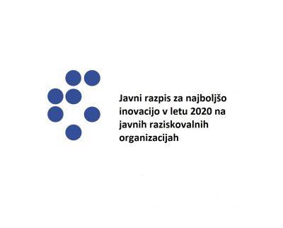 Javni razpis za najboljšo inovacijo v letu 2020 na javnih raziskovalnih organizacijah
